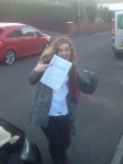 Rebecca Oliver passed with XLR8 Wales Driving School