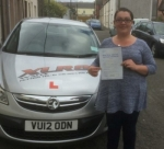 Rhiannon Roberts passed with XLR8 Wales Driving School