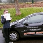 Rhiannon Timmins passed with XLR8 Wales Driving School