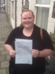 Rhianwen Callison passed with XLR8 Wales Driving School