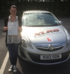 Samantha Lawson passed with XLR8 Wales Driving School