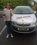 Sarah Evans passed with XLR8 Wales Driving School