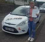 Sarah Isgrove passed with XLR8 Wales Driving School