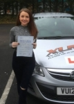 Stacey Knight passed with XLR8 Wales Driving School