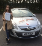 Tianna Casey passed with XLR8 Wales Driving School