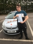 Tom Burgess passed with XLR8 Wales Driving School