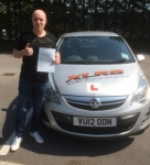 Adam Dancer passed with XLR8 Wales Driving School